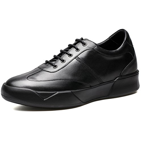 CHAMARIPA Elevator Shoes Hombres Altura Aumento Cuero Sport Sneaker Casual Levantamiento Invisible Tacón Zapatos Placa 2.76inch-H72C11K272D