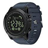 Boliaman 1.12inch Smartwatch, All-Day Heart Rate and Activity Tracking, Sleep Monitoring, Ultra-Long Battery Life, Bluetooth for Android & iOS Sports Fitness Calorie Wristband Wear Smart Watch - Blue