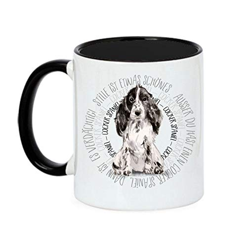 Siviwonder Tasse Circle - Cocker Spaniel - Watercolor Dogs Hundemotiv Fun Kaffeebecher