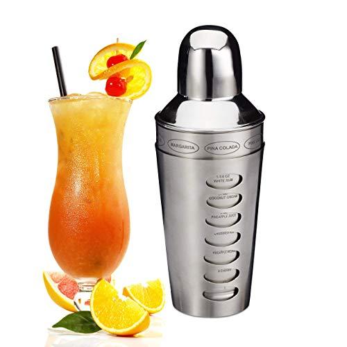 Relaxdays, Argento Shaker per Cocktail, Acciaio Inox, Lavabile in Lavastoviglie, Varie Ricette, Mixer da 600 ml, 22, 00 x 6,00cm