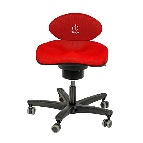 CoreChair Tango Ergonomic Active-Sitting Office Chair | Patented Design to Promote Movement to Build Core Strength and Posture (for Those 5'6' and Taller, Cherry Red)