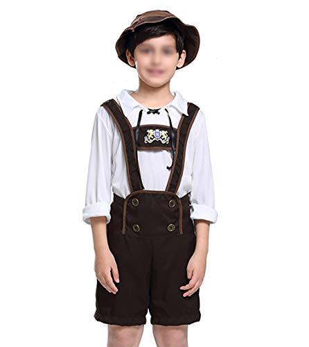 CoolChange Kinder Kostüm Tracht für Jungs I Bayrische Lederhose für Buben I Größe: 160