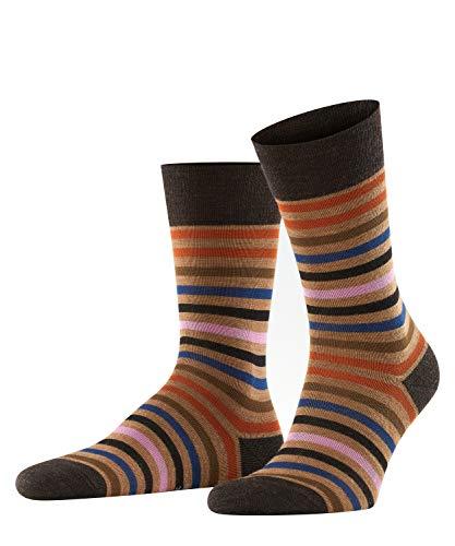 FALKE Herren Socken Tinted Stripe, Schurwolle Baumwolle, 1 Paar, Braun (Canvas 5306), 47-50 (UK 11.5-14 Ι US 12.5-15)