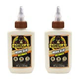 Gorilla 4 Ounce Ultimate Waterproof Wood Glue, Natural, 2 Pack