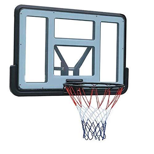 ZDW PVC transparent Basketballkorb, die Wand befestigtes Rückenbrett Net Set Hängebasketballkorb im Freien Sport, Teens Fest Plus-Frühling Basketball Board (110X75Cm)