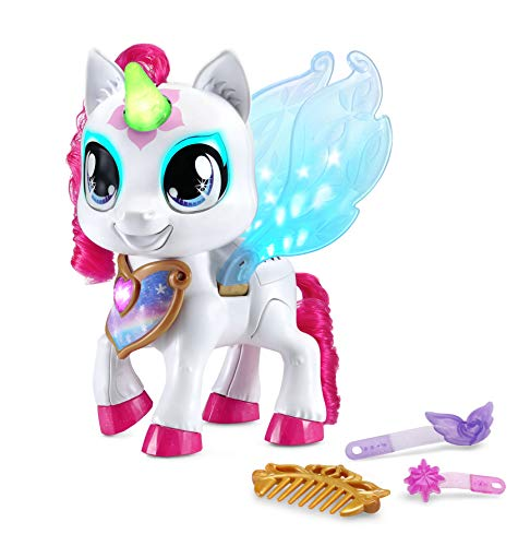 VTech- Sparklings Blanca Unicornio Interactivo, Multicolor (3480-530822)