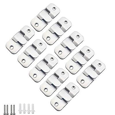 【Paquete】- Un total de 20 piezas de soportes de montaje empotrados, divididos en 10 pares; Equipado con 40 piezas de longitud de tornillos M3.5 x 25 mm y tapones de goma. 【Material】- Las hebillas y tornillos están hechos de acero inoxidable de alta c...