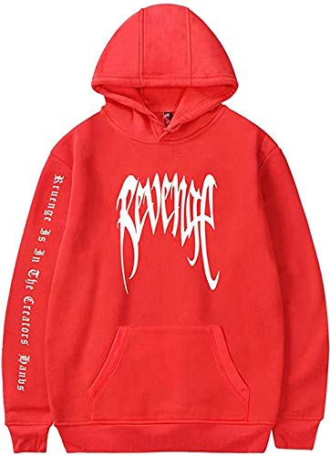 Unisex Sudadera con Capucha Xxxtentacion Rapper Revenge Hip Hop Sudadera con Capucha Mangas Largas Cool Street Hoodie Sweatshirt Deportivos Tops