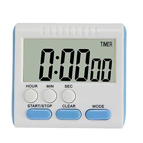 Demarkt Digitale keukentimer, houder, korte tijdmeter, keuken, 24 uurs, countdown, timer, elektronische timer en stopwatch, geluidloos alarm