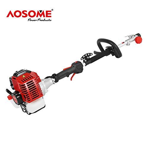 AOSOME Decespugliatore a Benzina 5 in 1 Multifunzione,con Motosega,Tagliasiepi,Tagliabordi,Prolunga,52CC 2.2 KW 3HP Motore per Decespugliatori a Scoppio