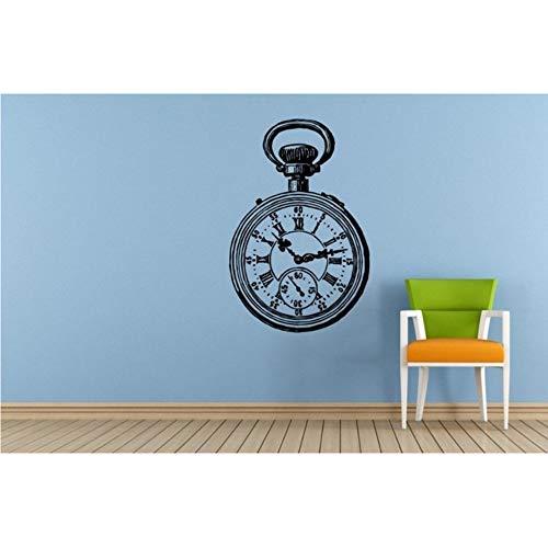 Estilo antiguo Reloj de Bolsillo de Mano s Vinilo Antiguo Vintage Reloj de Mano Tatuajes de Pared Mural Arte Home Room Decor 57 * 83 cm