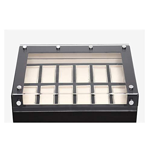 AXROAD MALL AXROAD MALL Multifunktionale hölzerne Uhrenbox, 12-Slot Herren- und Damenuhr Aufbewahrungsbox Schmuck Vitrine