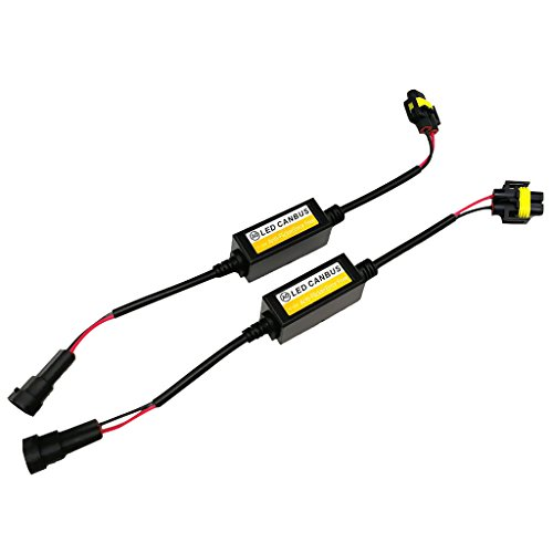 Gazechimp 2X Décodeu EMC de Canbus H8 H9 H11 LED Anti-Scintillement Erreur Canceller