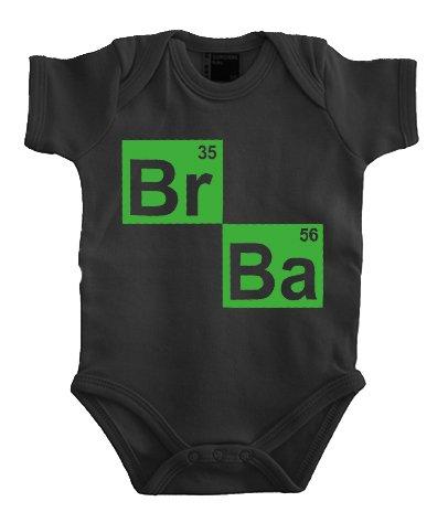 Touchlines Baby Body BR BA Formel Heisenberg Corps, Noir, 9 Mois (20 cm) Mixte bébé