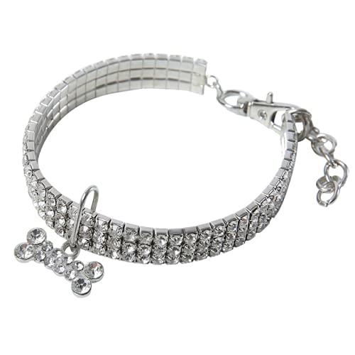ZZCR Collar de cristal para mascotas, tamaño ajustable, adecuado para mascotas pequeñas y...