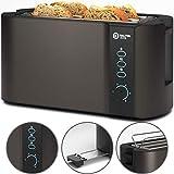 Balter Toaster 4 Scheiben ✓ Brötchenaufsatz ✓ Auftaufunktion ✓ Brotzentrierung ✓ Krümelschublade ✓ Edelstahlgehäuse ✓ Farbe: Grau