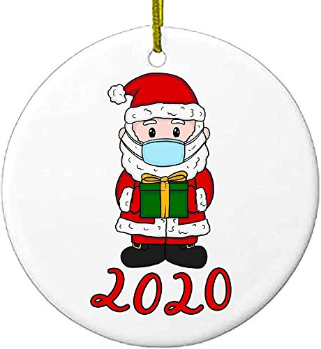 2020 Christmas Ornaments, Cute Santa Claus Xmas Merry Christmas Decorations Newest Theme Creative Gift Tree Ornament Kit Hanging Accessories for Home Indoor Outdoor Decor (3 Inch)