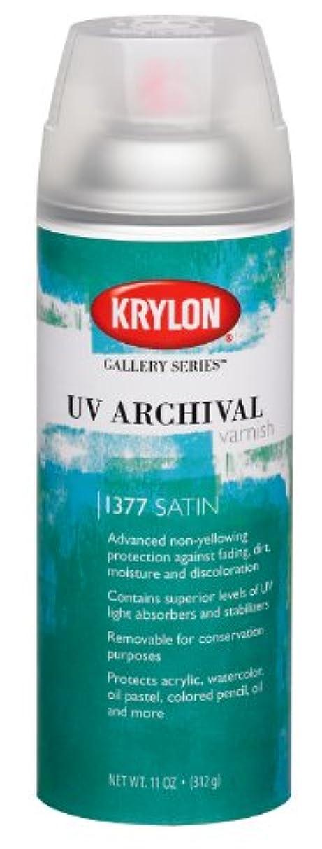 Krylon K01377000 Gallery Series UV Archival Varnish Aerosol Spray, Satin, 11 Ounce