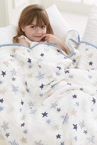 aden + anais Dream Blanket | Boutique Muslin Baby Blankets for Girls & Boys | Ideal Lightweight Newborn Nursery & Crib Blanket | Unisex Toddler & Infant Bedding, Shower & Registry Gifts, Rock Star