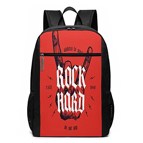 Mochila Escolares Música Rock Hard Medieval, Mochila Tipo Casual para Niñas Niños Hombre Mujer Mochila para Ordenador Portátil Viaje