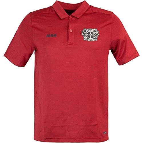 JAKO Bayer 04 Leverkusen Premium Polo Shirt (L, red Melange)