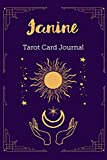 Janine Tarot Card Journal: Personalized Three Card Spread Daily Diary Recording & Interpreting Readings - 107 Page Fill In - 6x9 Notebook Matte Finish