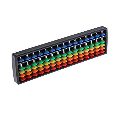 CUTICATE 15-stellig Chinesisch Abakus Zählrahmen Rechenhilfe Mathematik Kinder Pädagogisches Lernspielzeug - Regenbogen
