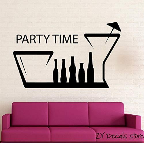 Spaß Nachtclub Treffpunkt Positive Wandtattoo Party Time Wandaufkleber Für Geburtstagsfeier Zitate Wandkunst Wandhauptdekoration 42x68 cm