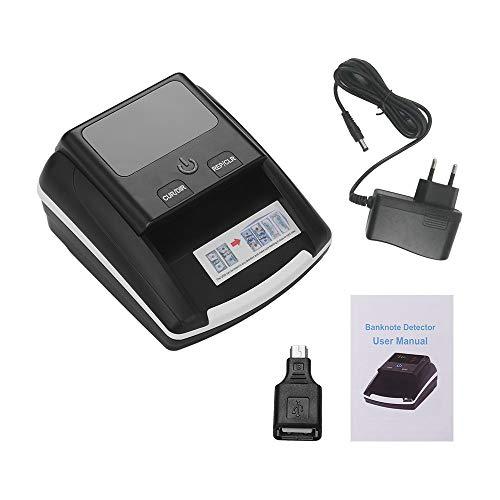 QWERTOUY Tragbarer Kleiner Banknotenprüfer Nennwertzähler UV- / MG- / IR-Erkennung mit Falschgeldprüfgerät für Batterien