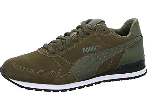 PUMA Unisex-Erwachsene St Runner V2 Sd Sneaker, Burnt Olive Forest Night, 46 EU