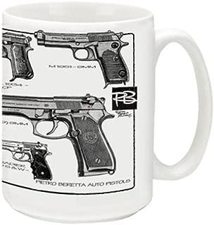 Cuppa Second Amendment Rights 15-Ounce Coffee Mug with Berettas