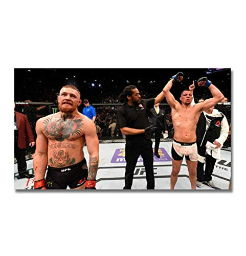 Ignite Wander Conor McGregor vs Nate Diaz Boxing Poster Canvas Paintings Decor Background Wall Murals Bedroom Study Decoration Paintings -20x36 Inch No Frame