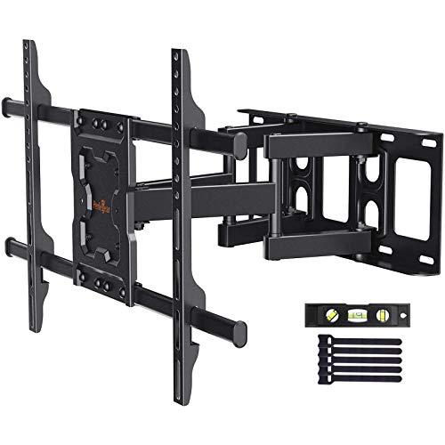 Perlegear Full Motion TV Wall Mount Bracket Dual Articulating Arms Swivels Tilts Rotation for Most 37-75 Inch LED, LCD, OLED Flat&Curved TVs, Holds up to 132lbs, Max VESA 600x400mm. Buy it now for 39.96