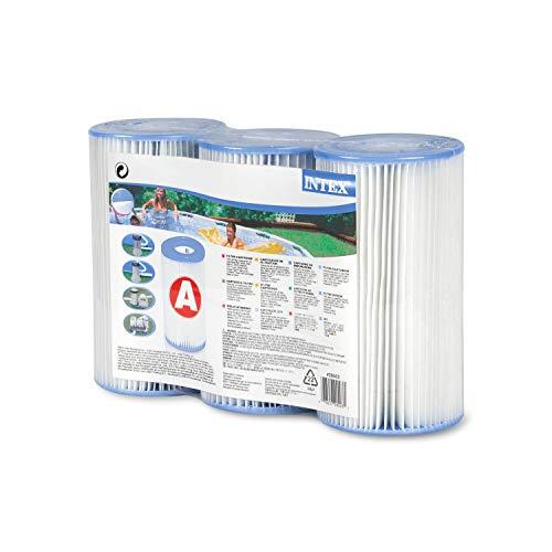 Intex - Filtro a Cartuccia Tipo A per Piscine, Confezione da 3