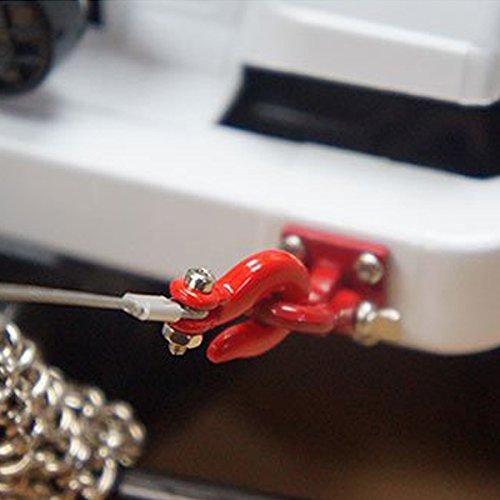 TOOGOO 1: 10 RC Crawler Zubehoer Metall Anhaenger Drahtseil Abschleppseil mit Haken fuer RC Auto 1/10 D90 Axial SCX10 LKW RC Auto Teile