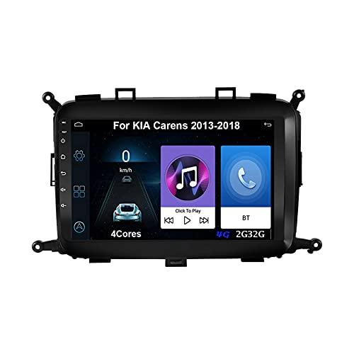 Android Radio Estéreo Pantalla Coche 9 Inch Pantalla Táctil Capacitiva Para KIA Carens 2013-2018 Android Auto Coche Conecta Y Reproduce Coche Audio Video SWC Cámara Trasera (Color : 4Cores 4G 2G32G)
