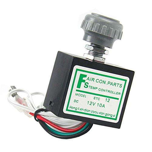 MuChangZi Interruptor Rotatorio de la Temperatura de DC 12V 10A con el Sensor para el Evaporador del Aire Acondicionado Coche
