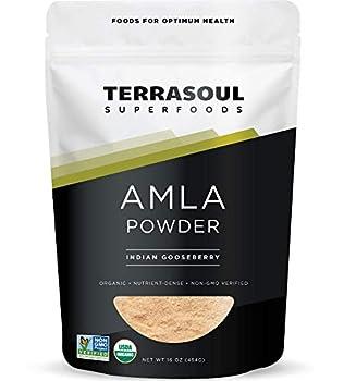 Terrasoul Superfoods Organic Amla Berry Powder  Amalaki  16 Oz - Rich in Antioxidant Vitamin C | Supports Immunity