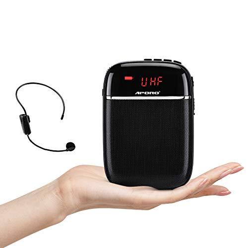 Amplificador de voz con Micrófono,Sistema de PA Recargable de 10 Vatios (1000 mAh), Bluetooth amplificador voz ligero para profesores, Guía Turístico y más(inalámbrico)