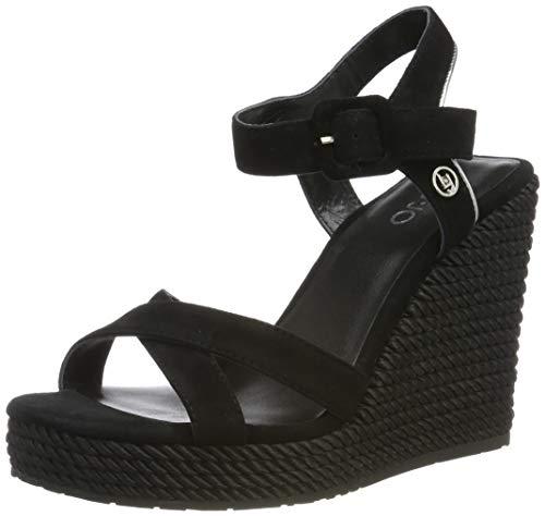 Liu Jo Shoes Lucy 05-Sandal Kid Suede Black, Punta Aperta Donna, Nero 22222, 38 EU
