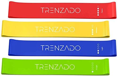 TRENZADO Fitnessbänder 4er Set, Fitnessband, Gymnastikband, Widerstandsbänder, Resistance Bands für Krafttraining, Muskelaufbau and Yoga, Good Fitness Tools for Homeuse
