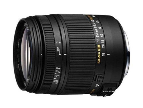 Sigma 18-250 mm F3,5-6,3 DC OS HSM Reise-Zoom-Objektiv (72 mm Filtergewinde) für Sony Objektivbajonett