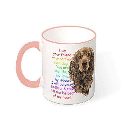 BBOOUAG Taza de té con texto en inglés 'I Am Your Friend Dog Mug Cute Painting Cooking Dishwasher Mug Gift for Christmas with 11oz capacidad vcbe 330ml