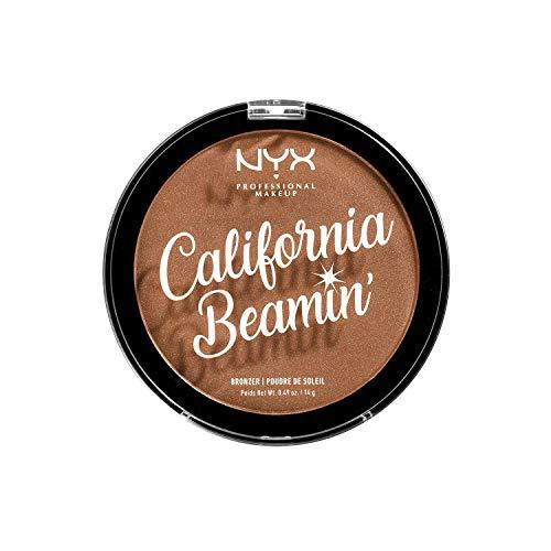 NYX PROFESSIONAL MAKEUP Polvos Bronceadores California Beamin' Face And Body Bronzer, Polvos Compactos, Tamaño Grande, Fórmula Vegana, Acabado Satinado, Tono: Sunset Vibes, 14 G