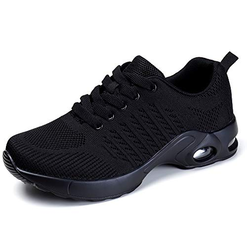 Running Shoes Air Cushion Women Tennis Shoe Lightweight Fashion Walking Sneakers Breathable Athletic Training Sport for Womens 7.5