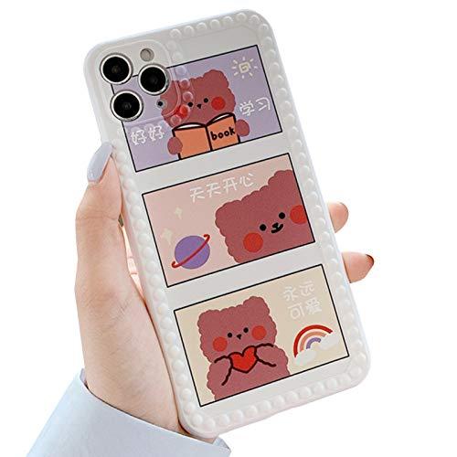 Funda telefónica, Cubierta Protectora Conejito de Dibujos Animados Cubierta Protectora para iPhone11PRO / 7 / 8PLUS, Cubierta Posterior a Prueba de Golpes Suave, Lin B-iPhone 11Pro