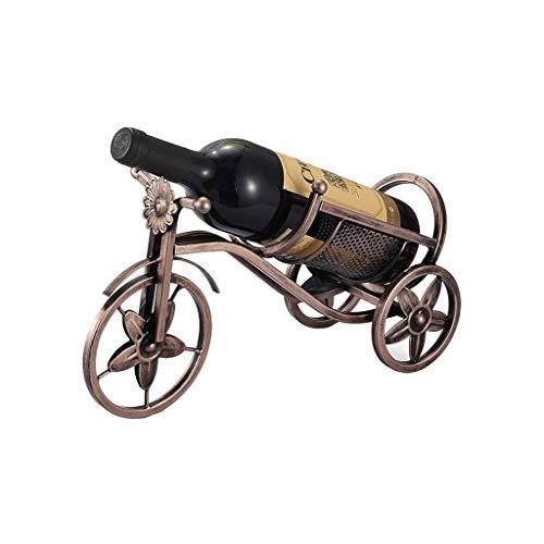 Botellero Vino Titular de almacenamiento de vino del hierro labrado de bicicletas estante del vino decoración casera de la cocina del restaurante del vino vitrina mostrador gabinete Bodega Estantería