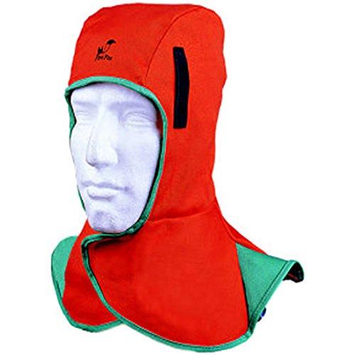 WELDAS Fire Fox Kopf- und Nackenschutz Schweissermütze Schweißerkappe, Farbe: Orange