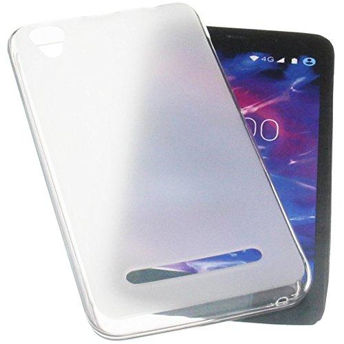 foto-kontor Tasche für MEDION Life E4504 Gummi TPU Schutz Handytasche transparent weiß