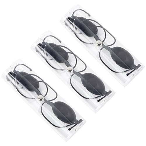Artibetter 3 Set Gafas de Seguridad Parche Ocular Gafas Gafas Protección de Seguridad con Estuche Rígido para Ipl Uv Led Paciente de Clínica de Belleza